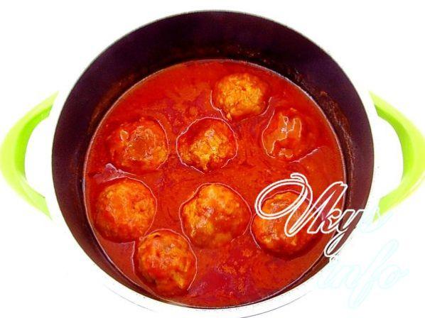 Мясные ежики с рисом в сметанном соусе в духовке рецепт пошагово в 4