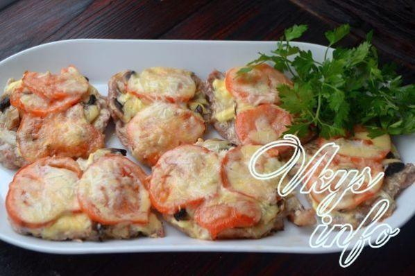 Мясо по-французски рецепт с помидорами рецепт с пошагово