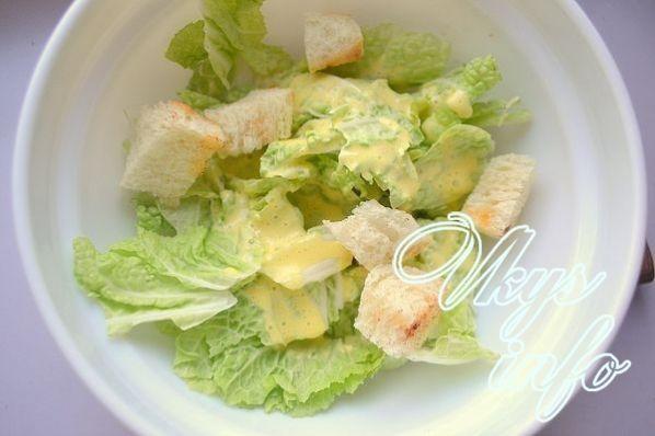 Пошаговый рецепт цезарь салата с