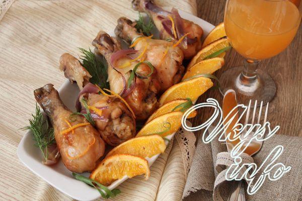 куриные с апельсинами в духовке рецепт