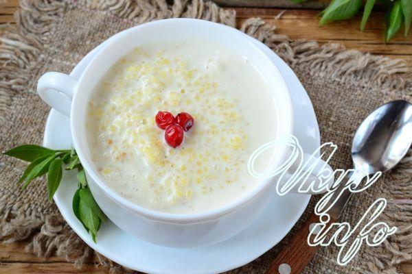 Как приготовить пшенную кашу на молоке пошаговый рецепт