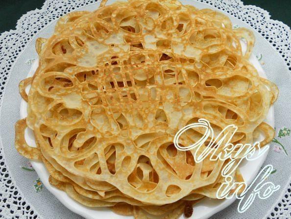 Блины на кефире ажурные рецепт с фото пошагово