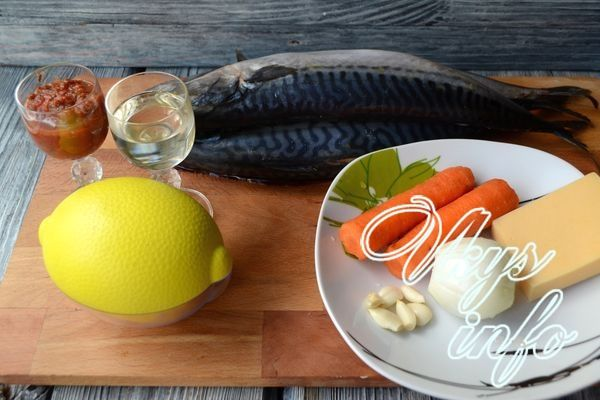 Запеченный рулет из скумбрии в духовке фото ингредиенты
