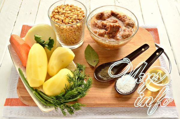 Гороховый суп на говяжьей тушенке - рецепт пошаговый с фото