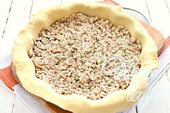 Тесто на пирог с рисом и сайрой рецепт с