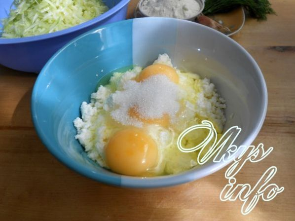 Творог с кабачками рецепт