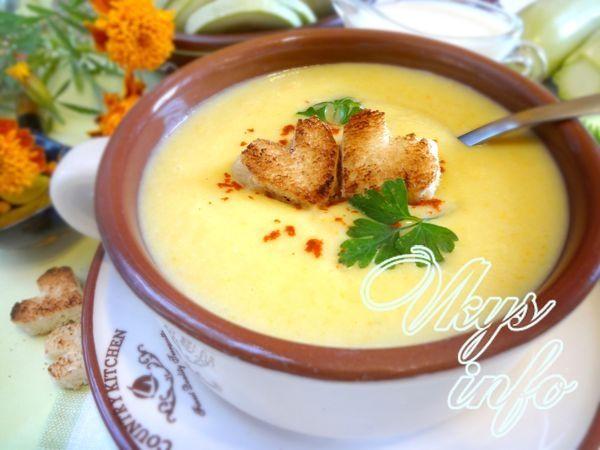 рецепт Суп-пюре из кабачков со сливками