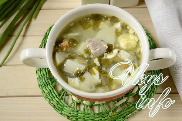 щавелевый суп с курицей и яйцом рецепт с фото