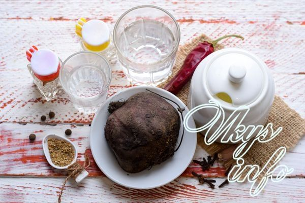Маринованная свекла на зиму ингредиенты