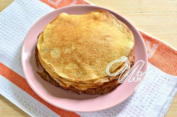 Блинчики на кефире рецепт тонкие с дырочками без яиц