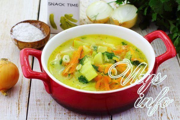 сырный суп с кабачками рецепт с плавленным сыром