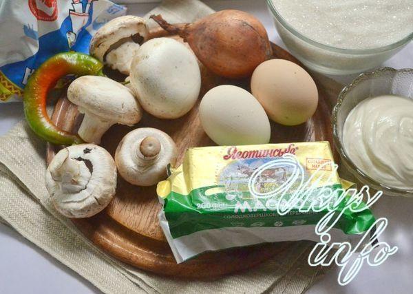 Блины с грибами фото ингредиенты