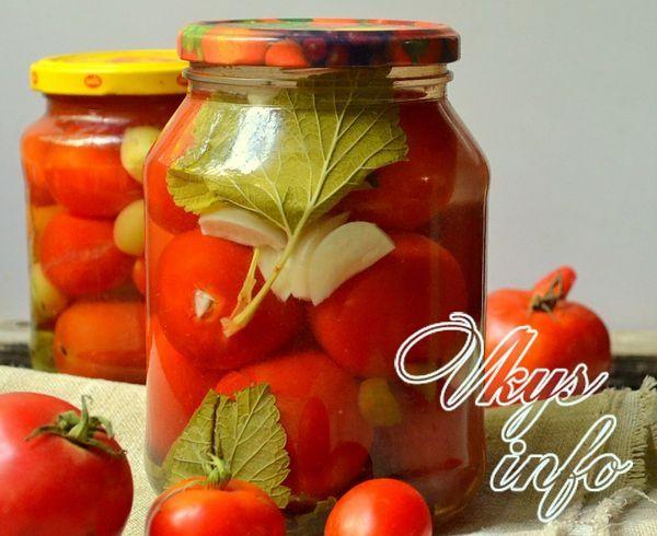 рецепт помидор с чесноком внутри на зиму