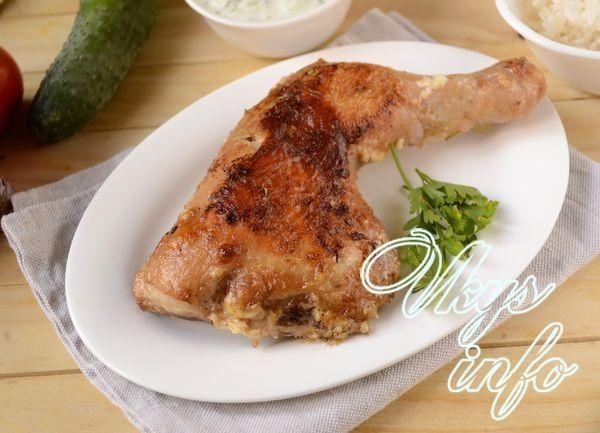 курица в духовке натертой майонезом