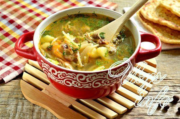 Рецепт грибного супа с макаронами рецепт