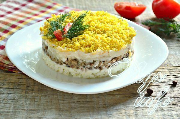 Салат мимоза без картошки рецепт пошагово в 27