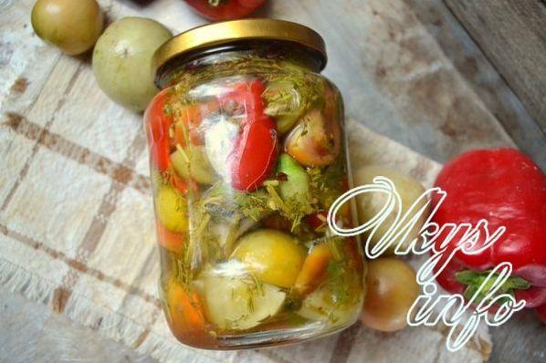 Рецепт зеленых помидор с морковью и чесноком на зиму рецепт