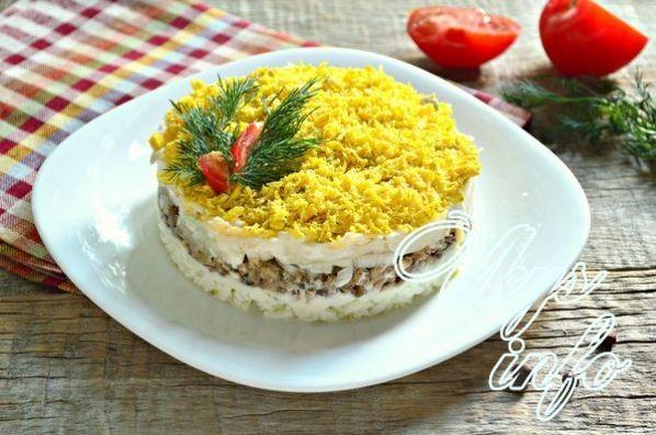 Салат мимоза без картофеля рецепт с фото