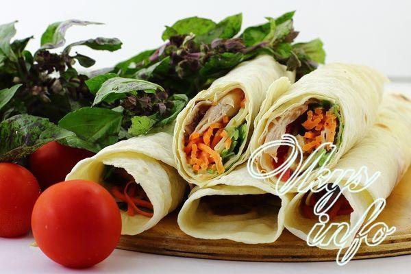 шаурма рецепт с корейской морковью и курицей