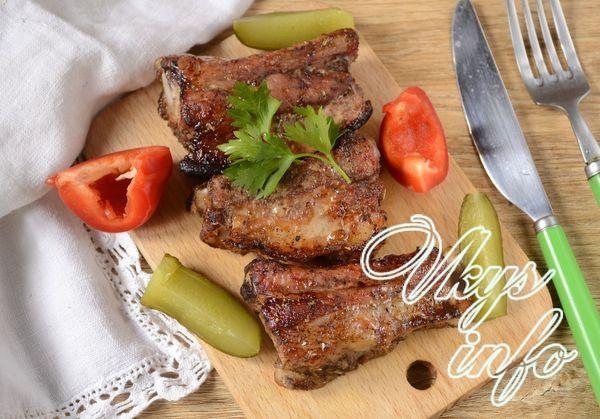 Свиные ребрышки с картошкой в духовке - рецепты приготовления 60