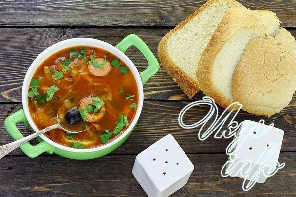 солянка с сосисками рецепт с фото пошаговый суп