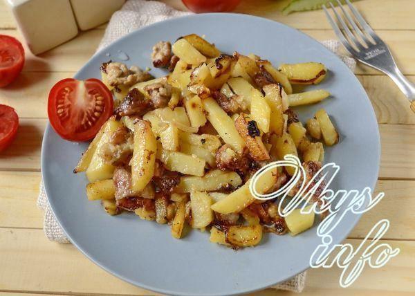 Какое мясо к жареной картошке