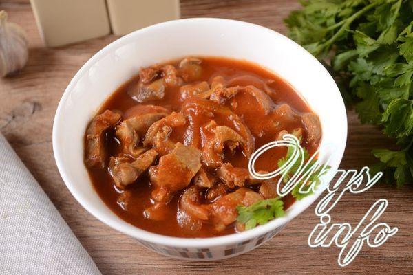 Куриные желудки в соевом соусе рецепт