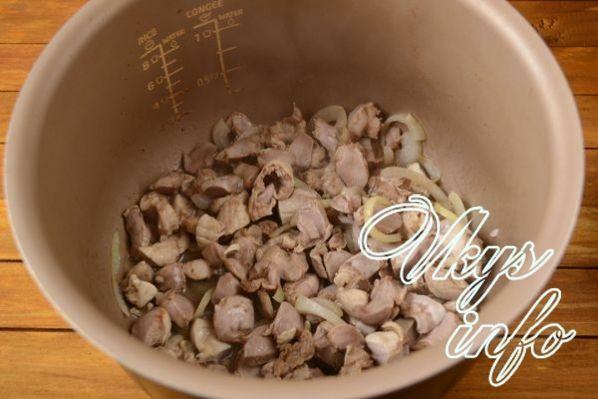 Куриные желудки в мультиварке, рецепты с фото