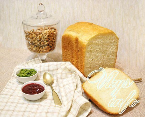 готовим белый хлеб в хлебопечке Panasonic