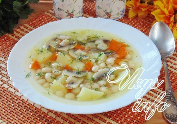 как приготовить суп с белой фасолью