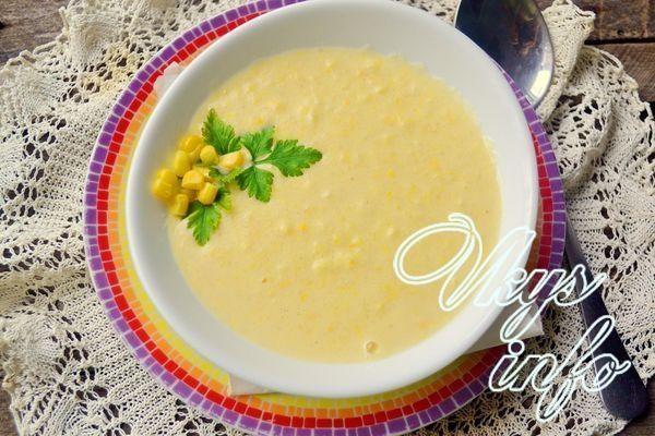 Овощной суп пюре с молоком вместо сливок