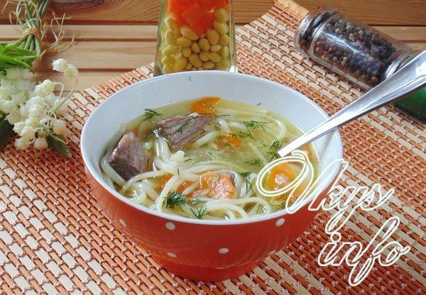 готовим суп из говядины с лапшой и картошкой