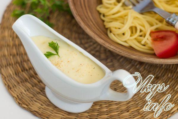 Соус бешамель рецепт с чесноком 3
