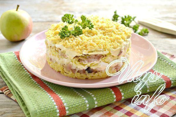 Салат из кеты мимоза