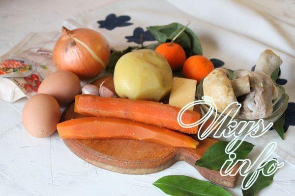 Закуска «Мандаринки» из моркови фото ингредиенты