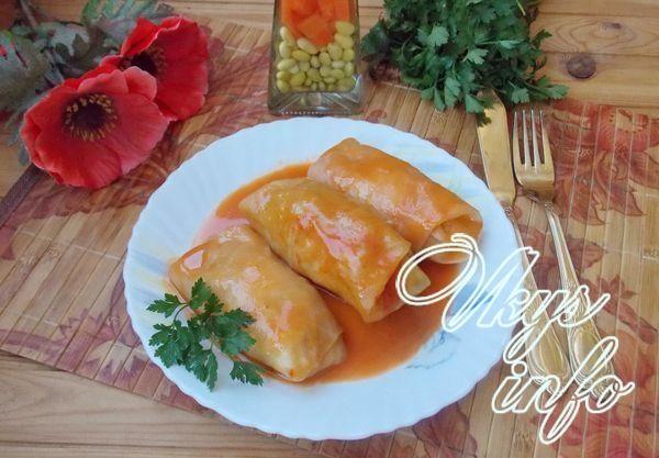 голубцы в томатно-сметанном соусе рецепт с фото