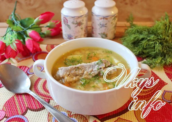 Суп с ребрышками рецепт с фото пошагово — pic 9